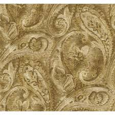york wallcoverings gold leaf raised paisley wallpaper gf0719 the