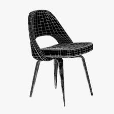 3d model saarinen executive side chair cgtrader