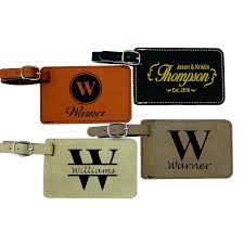 monogrammed luggage tags engraved personalized