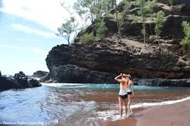 Black Sand Beaches Maui by Red Sand Beach Hāna Maui Hawaii The Hike Here Is Not An Easy
