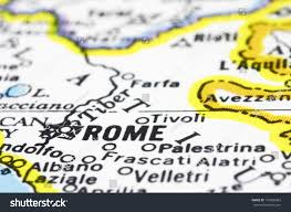 rome on a map rome on map city italy stock photo 172800863