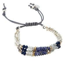 adjustable bead bracelet images Nakamol 3 row beaded adjustable bracelet 8765733 hsn jpg