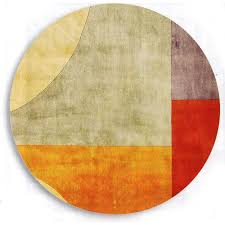 Modern Contemporary Rug Modern Area Rugs Orange Brown Curved And