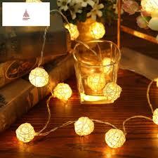 ebay led string lights 2m 20 led warm white ac110v 125v rattan ball led string christmas