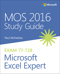 mos 2016 study guide for microsoft excel expert microsoft press