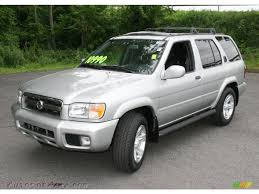 silver nissan 2003 nissan pathfinder le 4x4 in chrome silver metallic 834072