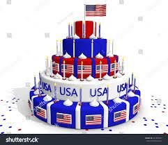 Dessert Flags Usa Cake American Flag Blue White Stock Illustration 241924921