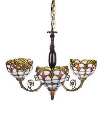 Baroque Ceiling by 3 Lights Tiffany Stained Glass Baroque Ceiling Pendant Lighting