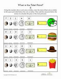 adding money amounts worksheet education com