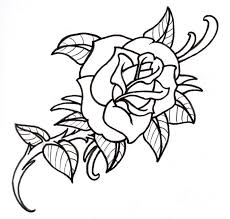 free black and white flower designs free clip