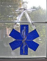 ems of stained glass suncatcher cross of