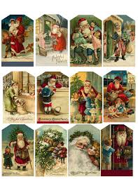 cute for vintage christmas tags you can use old christmas cards