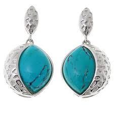 turquoise drop earrings king angel peak turquoise drop sterling silver earrings