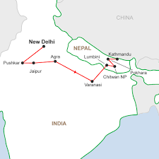 Map Of Nepal India by Delhi To Kathmandu Adventure A 15 Day Tour In India U0026 Nepal