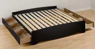 King Size Bed Frame With Storage Drawers Discount Platform Bed Frames Platform Bed With Storage Drawers
