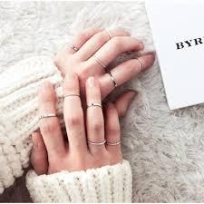 ring set korean minimalist ring set 11street malaysia rings