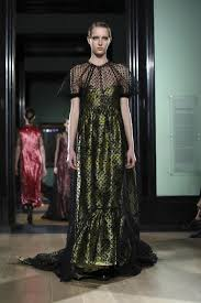 erdem shows long fancy floral dresses at london fashion