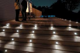 deck lighting outdoor deck lighting products low voltage led solar