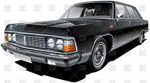 vintage cars clipart vintage soviet limousine luxurious vintage car of ussr vector