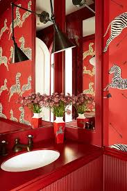 zebra bathroom ideas vibrant wallpaper bathroom small space design ideas