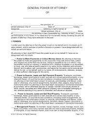 Format Of General Power Of Attorney by Free General Financial Power Of Attorney Form Word Pdf