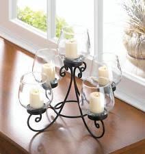 black metal geometric votive pillar candle holder centerpiece