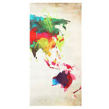 World Map Art 3pcs Colorful World Map Frameless Canvas Print Mural Painting Home