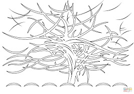 the gray tree by piet mondrian coloring page free printable