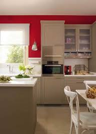 modern kitchen design with bold red accent walls and stainless