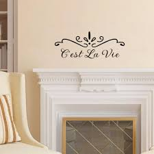 c est la vie french quotes wall decal lettering stickers decor c est la vie french quotes wall decal lettering stickers decor wall art for living room diy wall word art wall word stickers from langru1002 7 93 dhgate