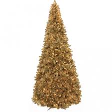 tinsel tree 9 foot gold tinsel tree clear lights c 90651