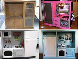 pretend kitchen furniture how to make the ultimate kids play kitchen repurposed plays and