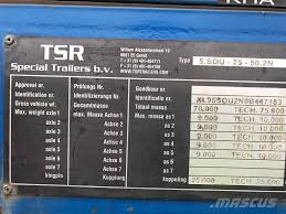 tsr bv 5 axle extendable trailer chelmsford essex low loader semi