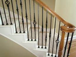 stair rail kits indoor best railing home depot wrought iron metal