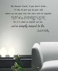 decals stickers vinyl art home decor men we re simply meant to be jack and sally skellington lyrics wall decal blk