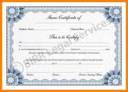 stock share certificate template eliolera com