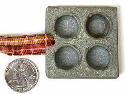 antique gray tin mini muffin pan ornament ornaments