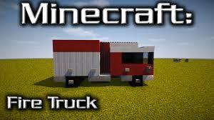minecraft truck minecraft fire truck tutorial designed by yazur youtube