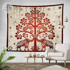 elephant tapestry boho tree olf life wall tapestry hippie