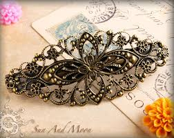 hair barrettes filigree hair barrettes complete hair clip and blank