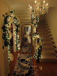 Christmas Garland With Lights by Foyer Entrance Christmas Lighted Garland I Love Everything About