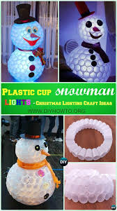Outdoor Christmas Pillows by 10 Unique Diy Outdoor Christmas Lighting Craft Ideas Plastic Cup