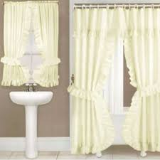 Double Shower Curtains With Valance Double Swag Shower Curtains Double Swags With Liner Altmeyers