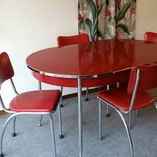Best Chrome Kitchen Dinette Table And Chairs Images On - Retro dining room table