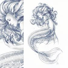 sketches for mermaid pencil sketches www sketchesxo com