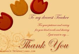 thank you messages for teachers 365greetings