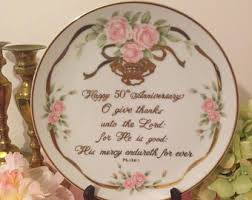 50th anniversary gold plate anniversary plate etsy