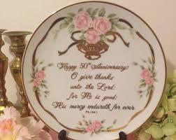anniversary plates 50th anniversary anniversary plate etsy