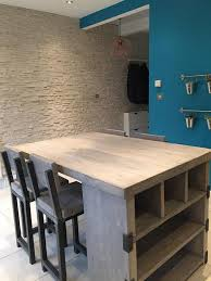 mill style reclaimed wood kitchen island