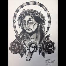 sketch of jesus face best tattoo designs